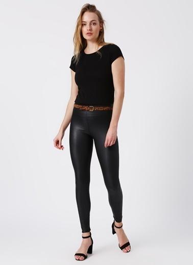 Koton Koton Bisiklet Yaka Siyah T-Shirt Siyah